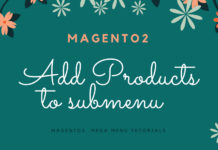 add products submenu magento 2 feature