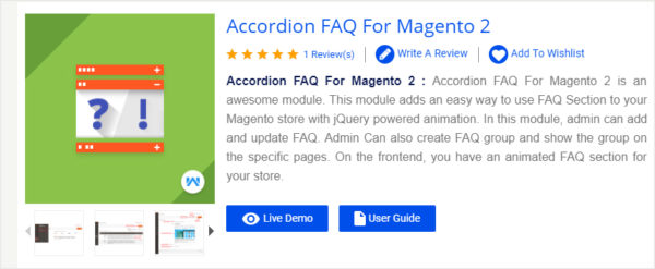 Accordion FAQ For Magento 2