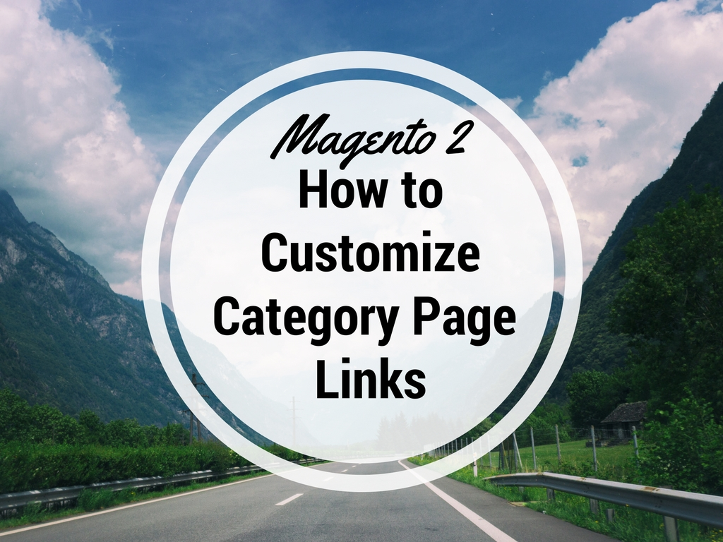customize Magento 2 Category Page Links