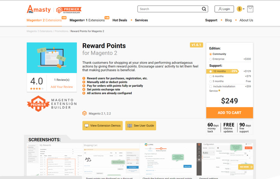 reward point by amasty