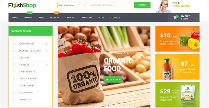 Ves Flashshop - magento 2 marketplace theme
