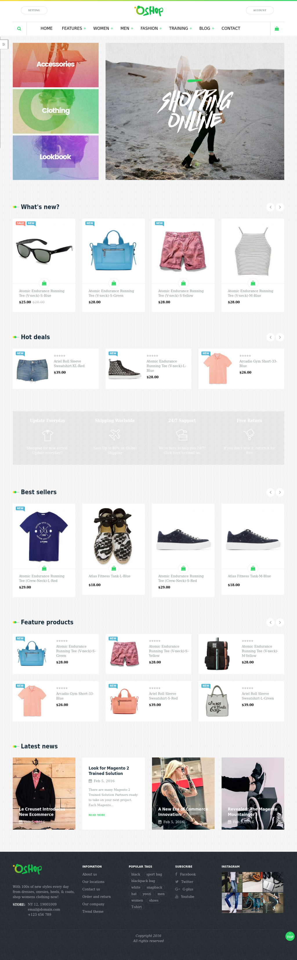 Magento 2 Bootstrap theme