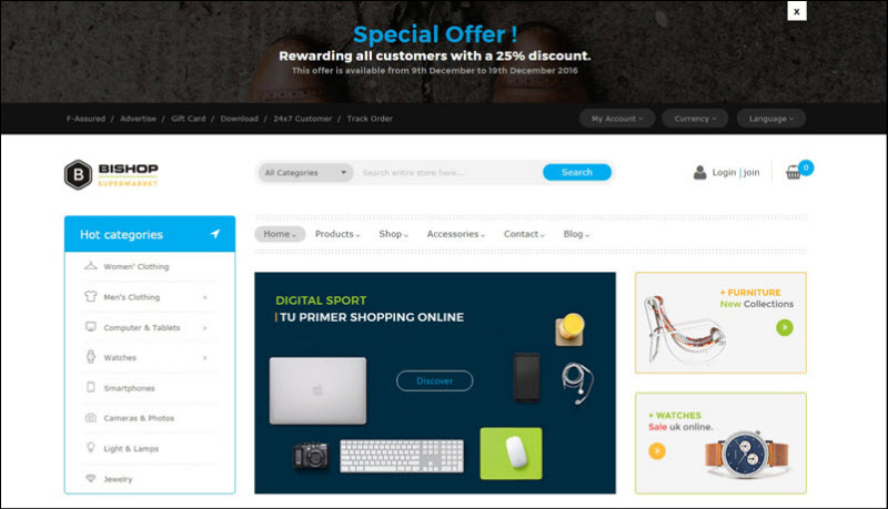 ves bishop - magento 2 marketplace theme