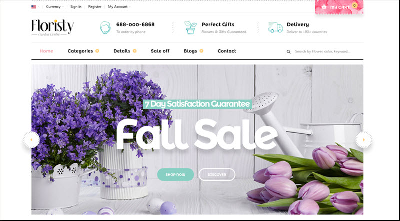 ves floristy - magento 2 marketplace theme