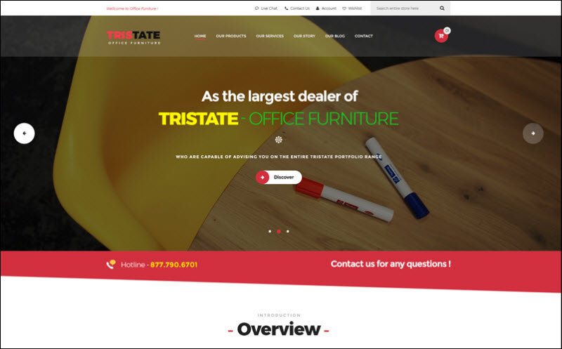 ves office furniture - magento 2 marketplace theme