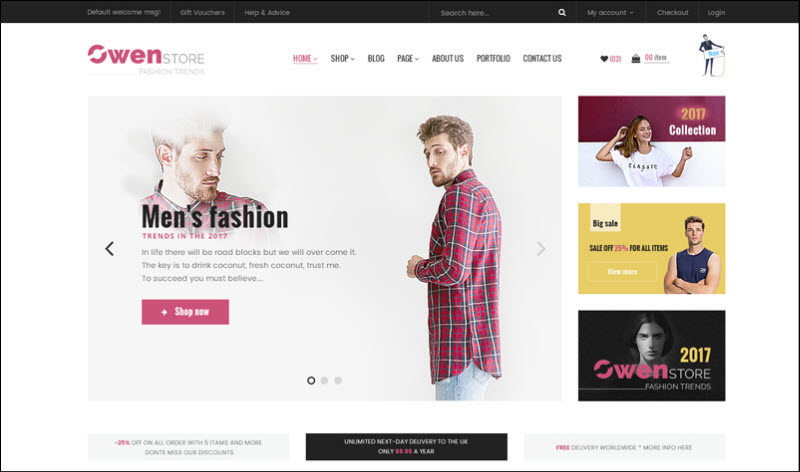 ves owenstore - magento 2 marketplace theme