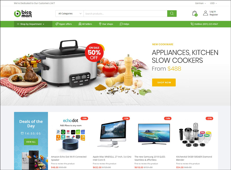 ves bicomart best magento 2 marketplace theme