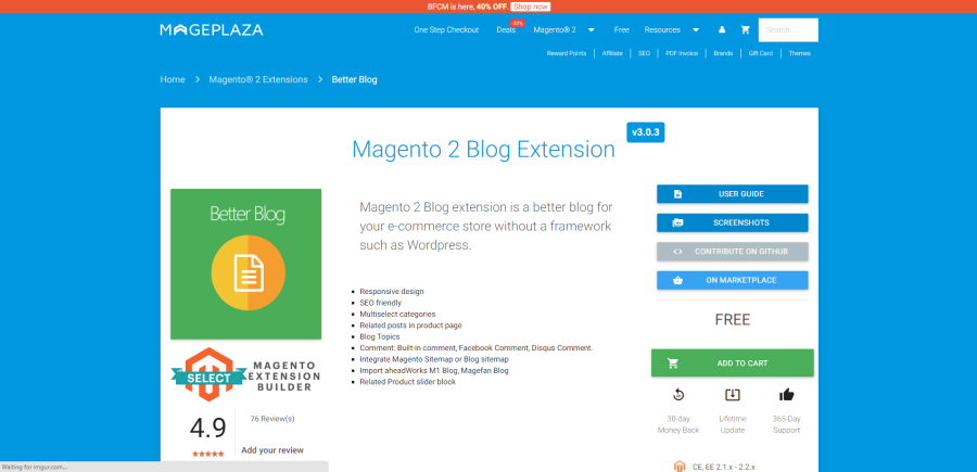 mageplaza blog extension