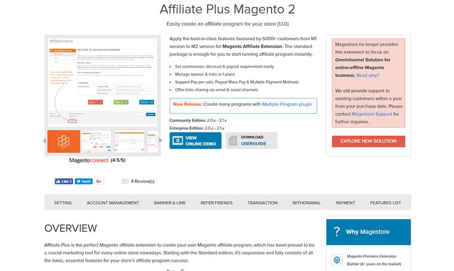 amazing magento 2 affiliate