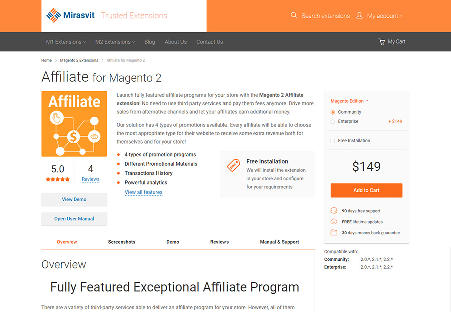 Affiliate for Magento 2 by marasvit