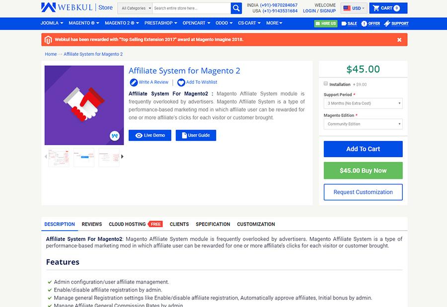 magento 2 affiliate module
