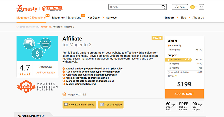 affiliate extension by magestore