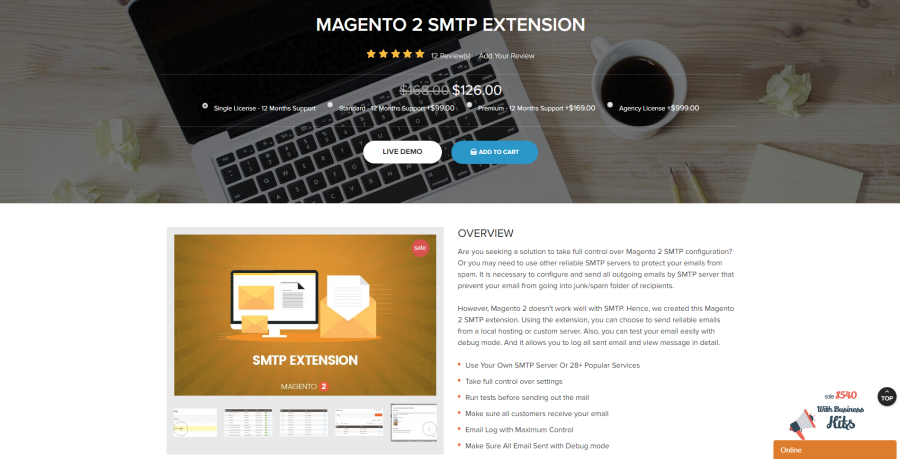magento 2 smtp extension by landofcoder