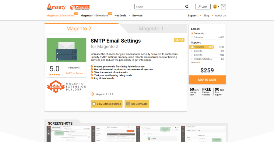 magento 2 smtp extension by amasty