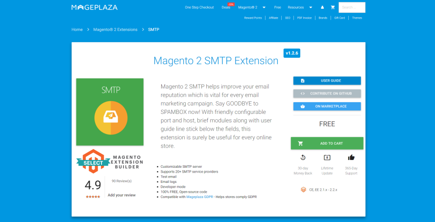 magento 2 smtp extension by mageplaza