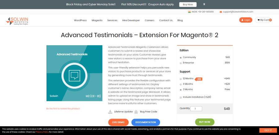 Solwininfotech Magento 2 Testimonials Extension