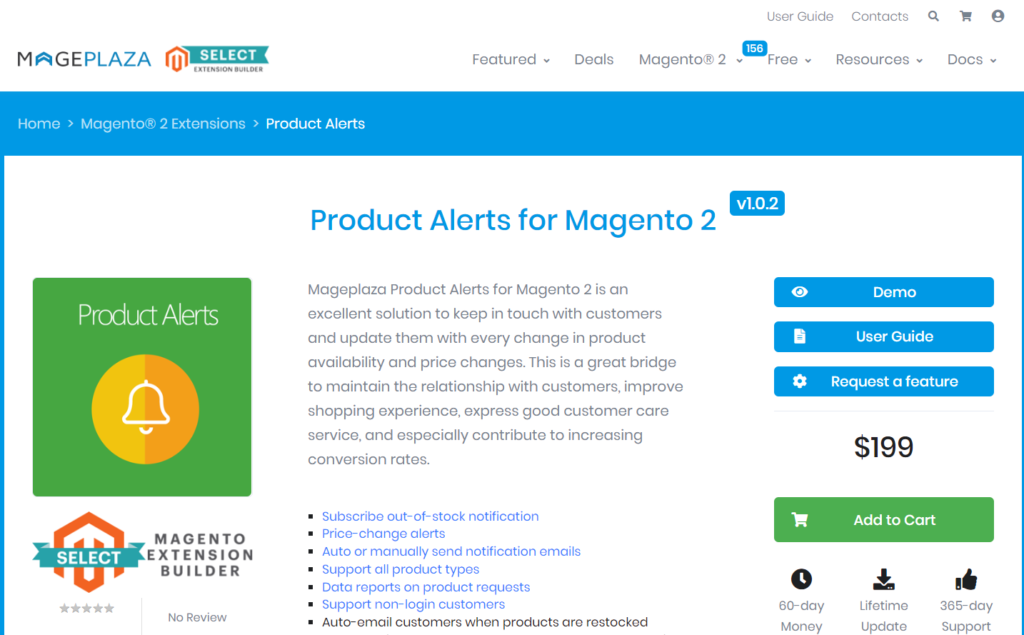 mageplaza product alerts for magento 2