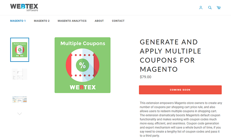 magento 2 coupon code extension cheap