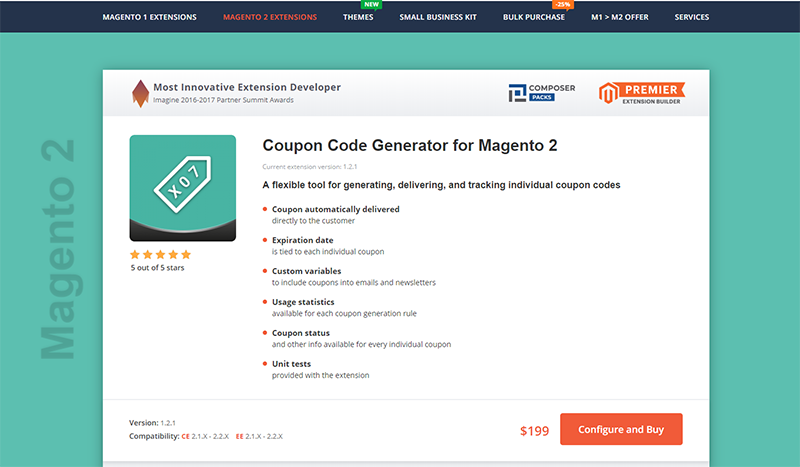 magento 2 coupon code extension