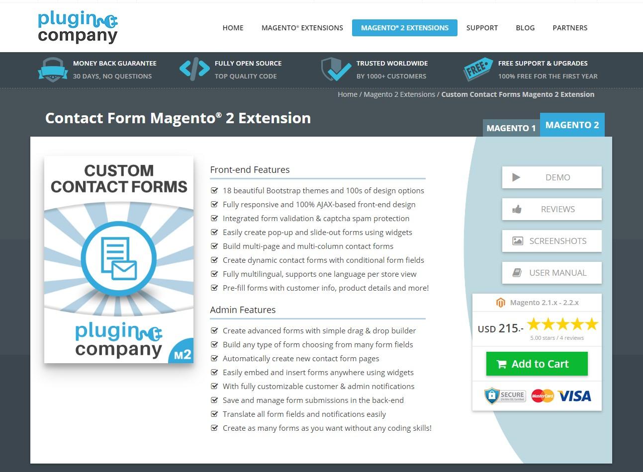 Contact Form Magento 2 Extension - Plugin Compan