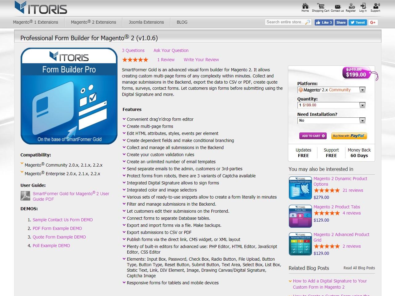 Professional Form Builder for Magento 2 - Itoris