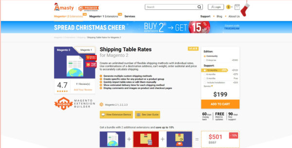 Shipping Table Rates for Magento 2