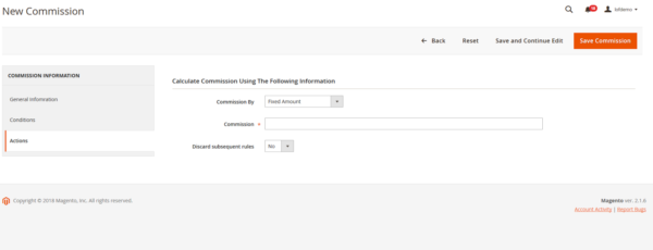 Generate new commission in magento 2 marketplace pro
