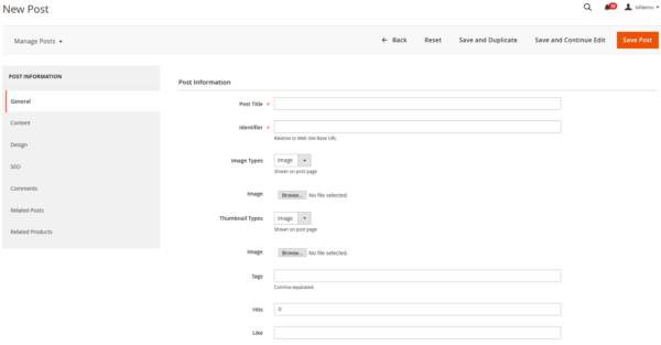 Manage new post in magento 2 marketplace pro
