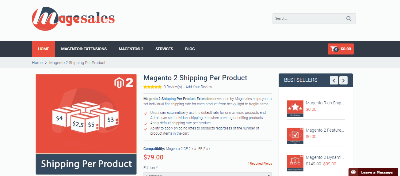 Magento 2 Shipping Per Product collection