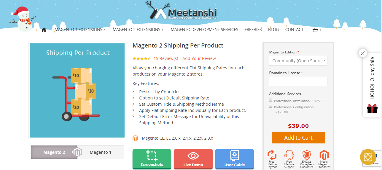 Best Magento 2 Shipping Per Product collection