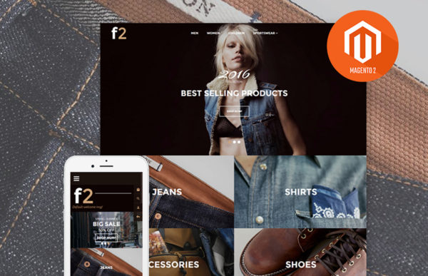 Fashion 2: Clothes Boutique Magento Template