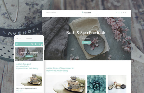 Bath and Spa Store Responsive Magento 2 Website