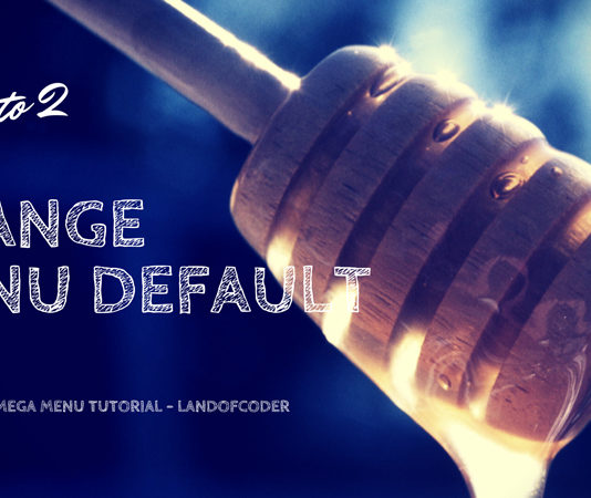 change magento 2 menu default