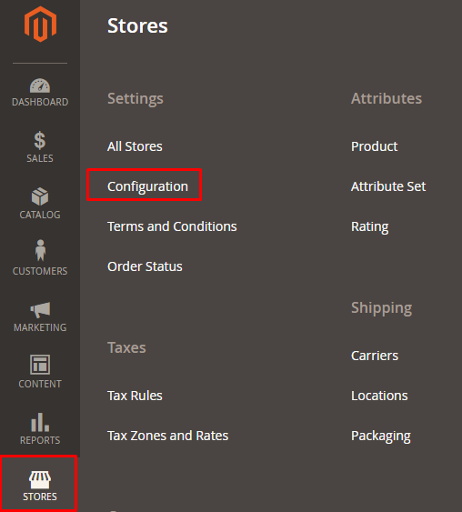 Stores-configuration