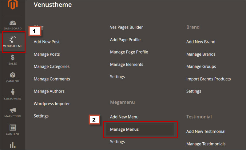 add category link menu magento 2