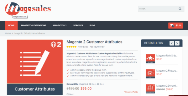 best Magento 2 customer attributes extensions in 2018