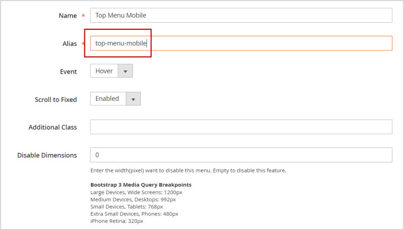 add magento 2 mobile menu