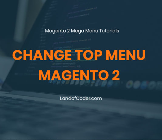 change top menu magento 2