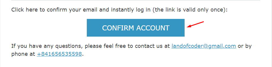 confirm email