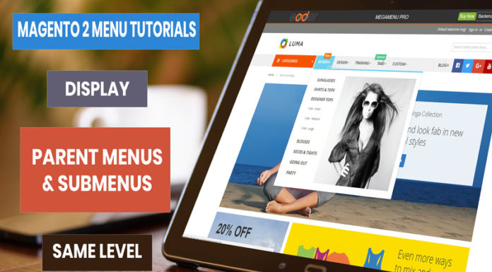 display-magento-2-menus-same-level