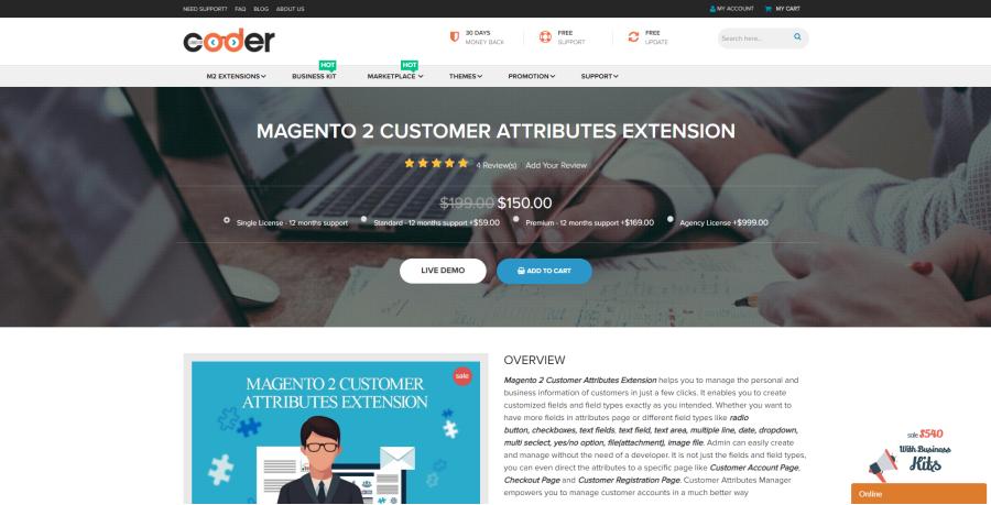 magento 2 customer attribute extension
