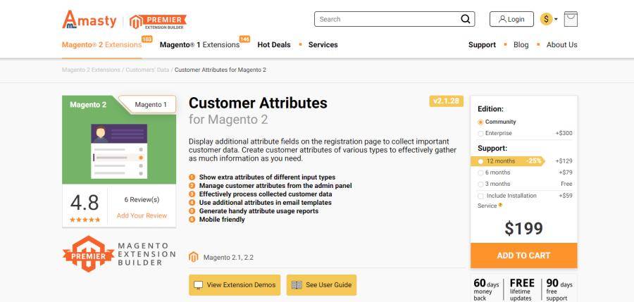 magento 2 customer attributes