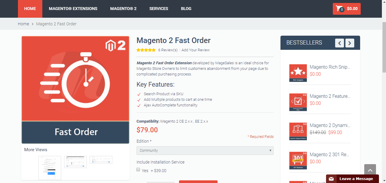 magento 2 fast order
