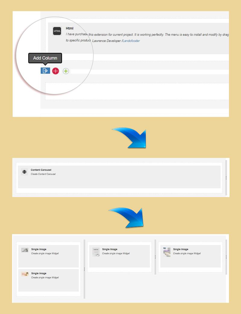 add column magento 2 page builder
