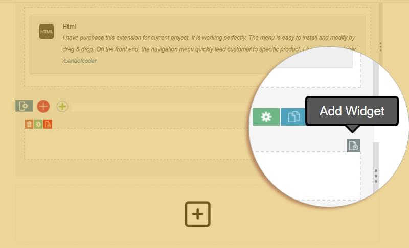 add widgets magento 2