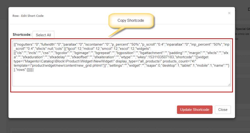 copy row shortcode magento2