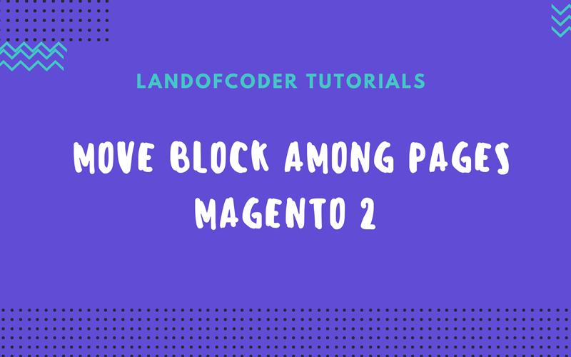 move block pages magento 2