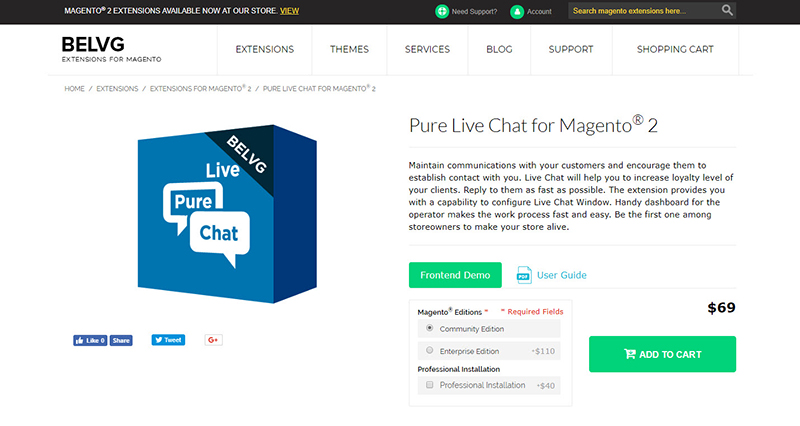 Pure Live Chat for Magento