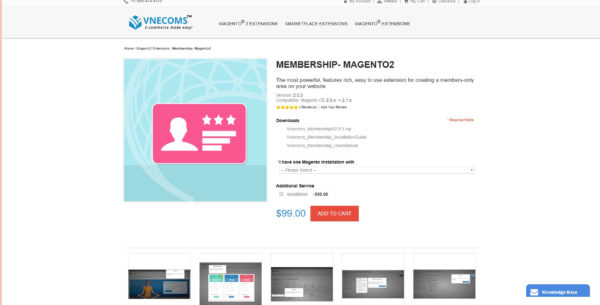 membership extension for magento 2 collection