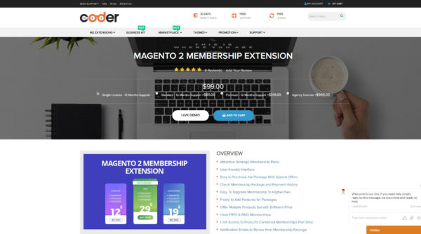 best magento 2 membership extension by landofcoder